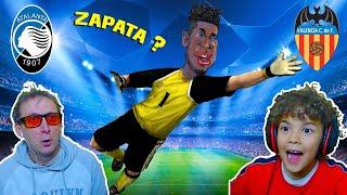 COME FOSSE L' ATALANTA con 3 PORTIERI IN ATTACCO e ZAPATA in PORTA? - Atalanta vs Valencia