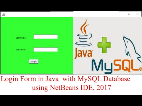 How to Create a Login Form in Java using MySQL Database and NetBeans