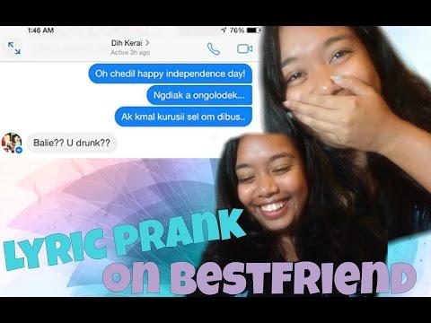 Lyric Prank on Bestfriend | Palauan Version | @queenbalie