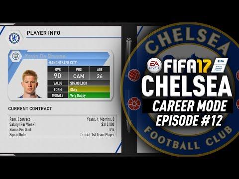 DE BRUYNE RETURNS FOR $135 MILLION!!! FIFA 17 Chelsea Career Mode #12