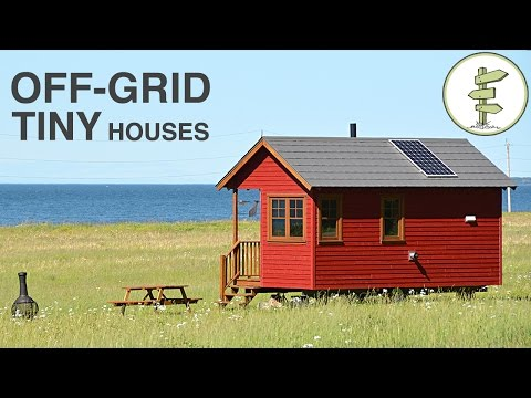 Tiny House Tour at Stunning Waterfront Off-Grid Resort - Dom