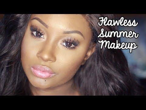 Makeup Tutorial   Perfect Summer Skin ! (Full Makeover)