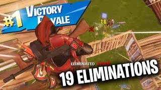 INSANE 19 Eliminations Aggressive Match!! (Fortnite Battle Royale Gameplay)