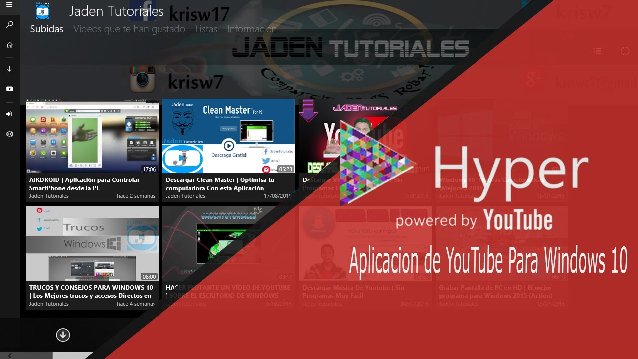 youtube para windows 10 app hyper for youtube windows 10 youtube. Black Bedroom Furniture Sets. Home Design Ideas