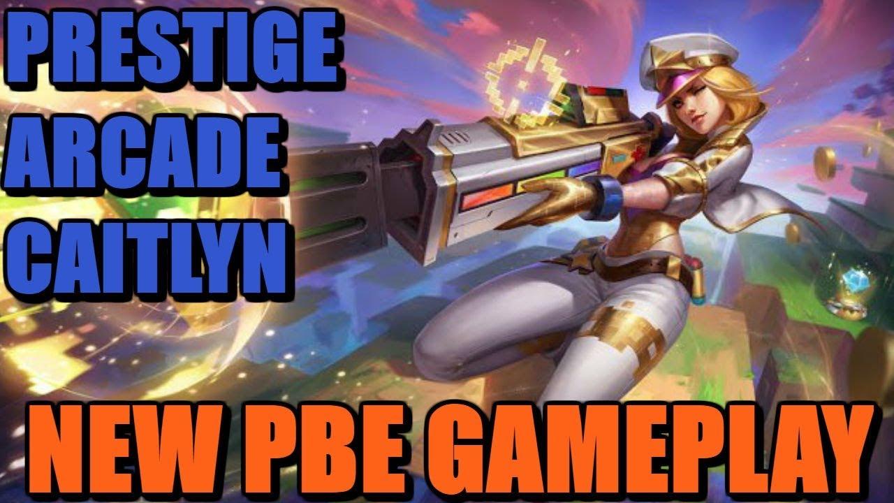 LoL - Arcade Caitlyn Prestige Edition skin gameplay | League of Legends