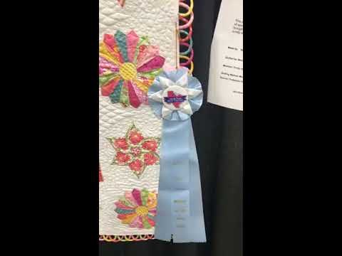 Hand Embroidered Quilting At A Show In Arlington Texas Youtube
