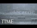 Timelapse Of Northeast Snow Storm In 60 Seconds | TIME