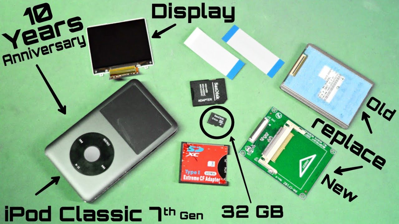 Revive Old iPod Classic 7th gen and Replace Hard Drive with Memory Card  (Urdu/Hindi)