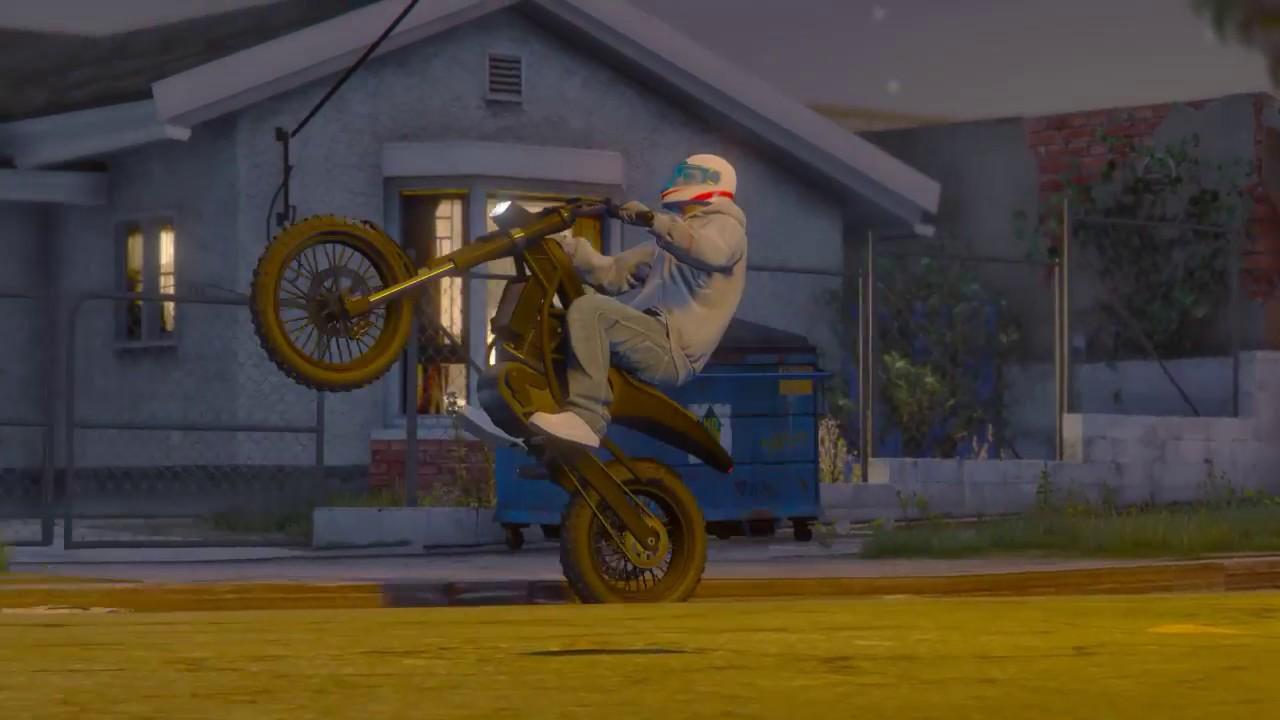 Gta 5 Bikelife Biker Gang One Handers Circles Wheelie Gang