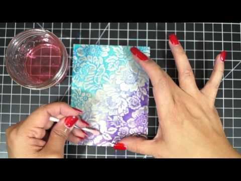 Card Ideas: Ombre Effect on Craft Metal Sheets
