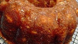 Peach Custard Cake - How To