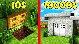 ДОРОГОЕ или ДЕШЕВОЕ КАКОЙ БУНКЕР ВЫБЕРЕТ НУБ в Майнкрафт? Неудачник нуб Minecraft Мультик Мод