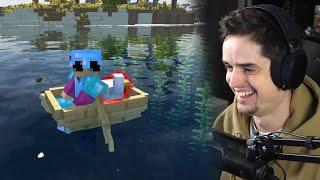 Link zijn geliefde kip ontvoeren in Minecraft