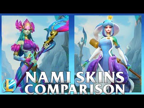 Nami Skins Comparison | Urf the Nami-tee and River Spirit Nami | WILD RIFT
