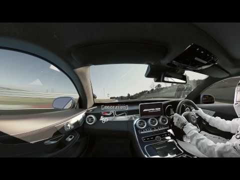 Lewis Hamilton drives the Mercedes-AMG C 63 S Coupé around the Kyalami circuit.