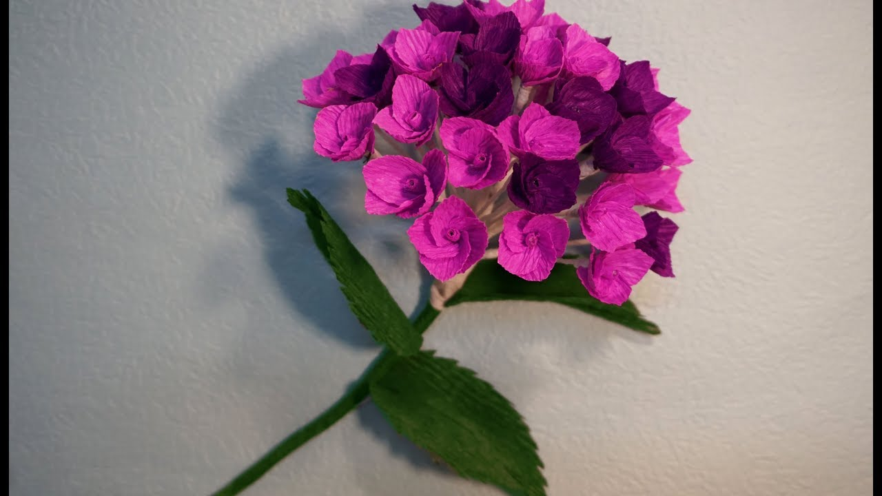 How To Make Beautiful Hydrangreas From Paper Crepe Diy Tutorial