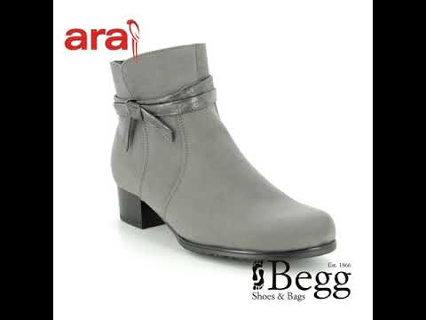 Ara Catabow Wide 63654-65 Grey ankle boots