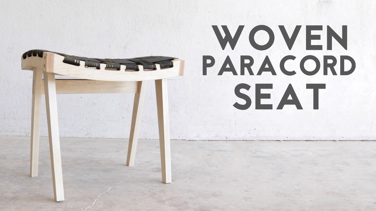 Diy Wooden Stool With Woven Paracord Seat Modern Builds Ep 68