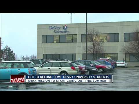 Students at DeVry University may have a refund coming