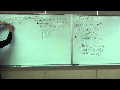 Prealgebra Lecture 10.3:  Multiplying Polynomials by the Distributive Property.