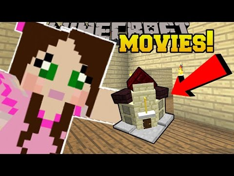 Minecraft: MINI MOVIE THEATER!!! (BECOME PART OF THE MOVIE!) Custom Command