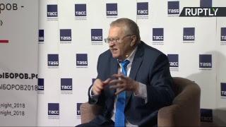 Пресс-конференция Владимира Жириновского по итогам выборов президента России
