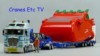 Drake 4x8 Dragline Bucket Trailer and Weiss ESCO Profill Bucket by Cranes Etc TV