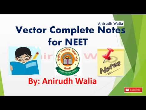 Vector Notes for NEET Physics | Dot Product Notes | Cross Product | Physics Notes for NEET |NEET Tip