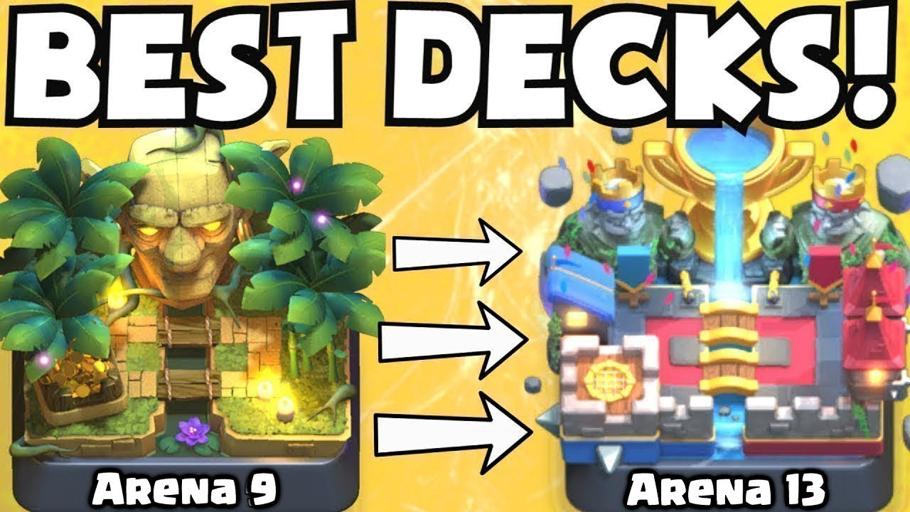 Clash Royale Best Arena 7 Arena 13 Decks Undefeated Best Deck Attack Strategy Tips F2p Players Youtube