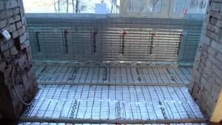 Утепление лоджии с витражным панорамным остеклением 1. утепл.