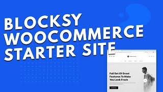 WooCommerce starter site for Blocksy Theme ??| Free WordPress theme! ??