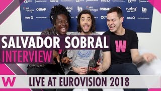 Eurovision winner Salvador Sobral @ 2018 grand final (INTERVIEW)