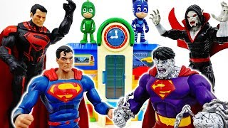 Superman Became A Monster~! PJ Masks, It's Time To Be A Hero #ToyMartTV