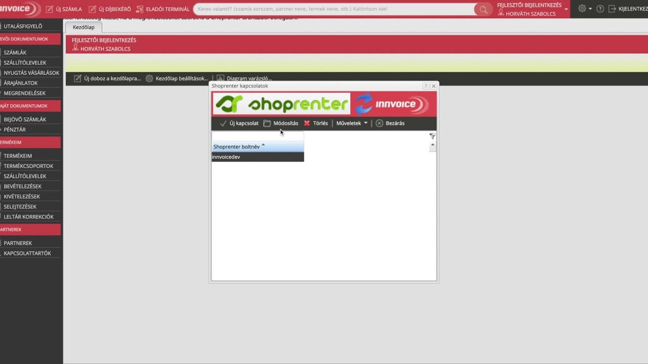 43318b1f94 Shoprenter készlet feltöltése - InnVoice számla és készlet