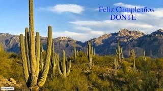 Donte  Nature & Naturaleza - Happy Birthday