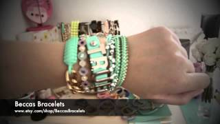 ♡ Beccas Bracelets--inspired Arm Candy Lattice Wrap Bracelets With Hearts ♡