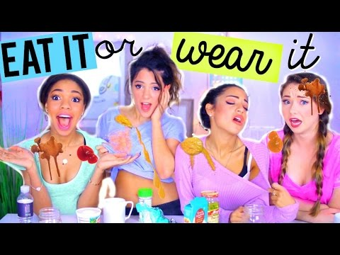Thumbnail: EAT IT OR WEAR IT CHALLENGE | Niki and Gabi