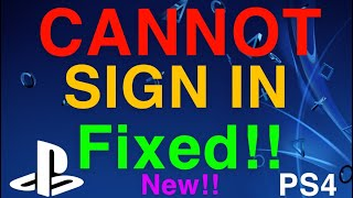 PS4 CANNOT SIGN IN ERROR FAILED REALLY EASY FIX!