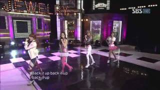 Jewelry -  Back it up (주얼리-백잇업) @SBS Inkigayo 인기가요 20110130