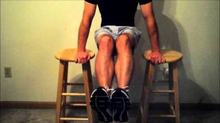 Bar Stool Homemade Dip Station For Upper Body And Ab Workouts