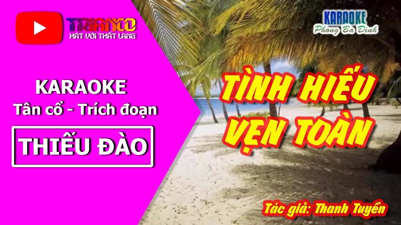 Karaoke Trích Đoạn Tình Hiếu Vẹn Toàn (Thiếu Đào) - Hát với Hong Michael