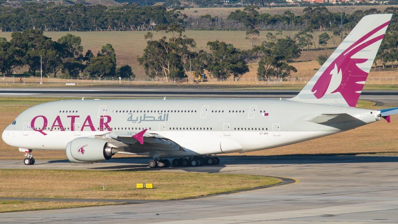RARE Qatar Airways A380 DAYLIGHT TAKEOFF from Melbourne ...  RARE Qatar Airw...
