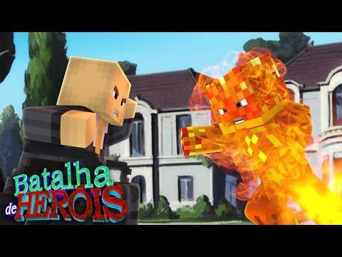 Minecraft : TOCHA HUMANA vs PROFESSOR X - BATALHA DE HERÓI
