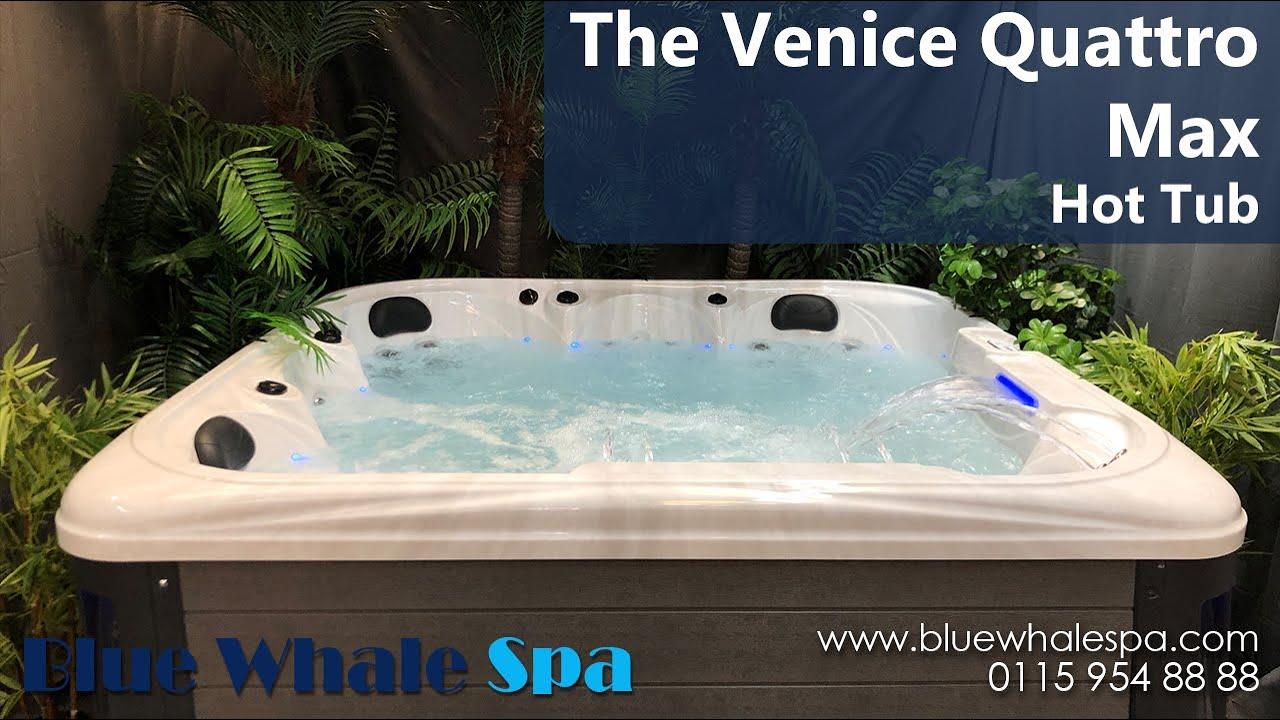 The Venice Quattro Max 5 Seater Hot Tub Youtube
