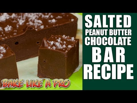 Download Youtube: 2 INGREDIENT FUDGE ! - Salted Peanut Butter Chocolate Bar Recipe