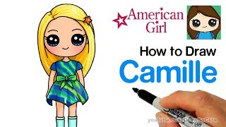 How to Draw Camille Easy | American Girl Doll WellieWishers