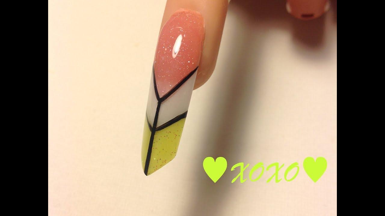 TUTORIAL: Uña Edge/Piramide Neon ♥ - YouTube