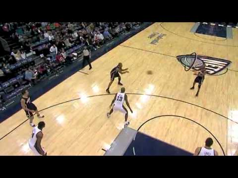 A.J. Price  misses the 3-pointer but Paul George is there for the putback jam