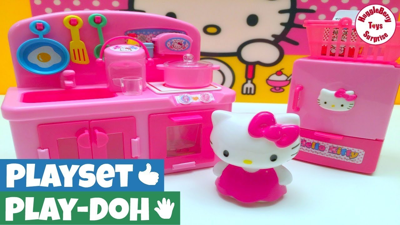 Hello Kitty Kitchen Set | Hello Kitty Kitchen Hello Kitty Toys Toy Kitchen Set Miniature Toys Shopkins Basket Play Dough