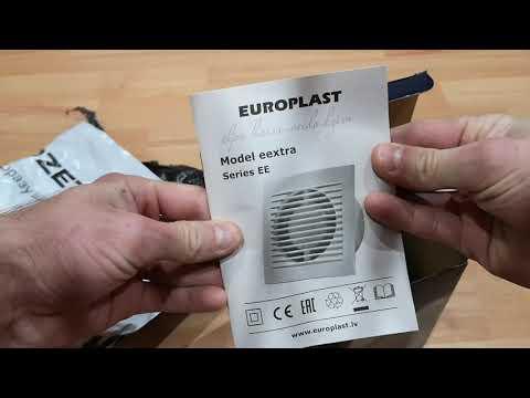 Витяжний вентилятор Europlast E-EXTRA EE100 білий